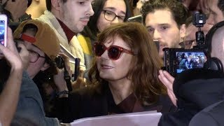 Susan Sarandon and Kit Harington with fans at John F Donovan premiere in Paris