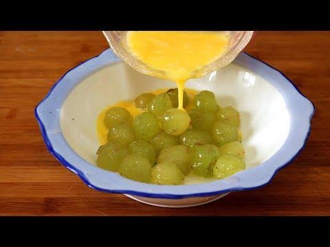 葡萄别洗了就吃,打入2个鸡蛋,教你秘制一做,上桌就扫光!