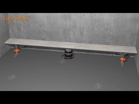 Modulo TAF Wall linear shower drains - No-hub sleeve installation - Easy Drain USA