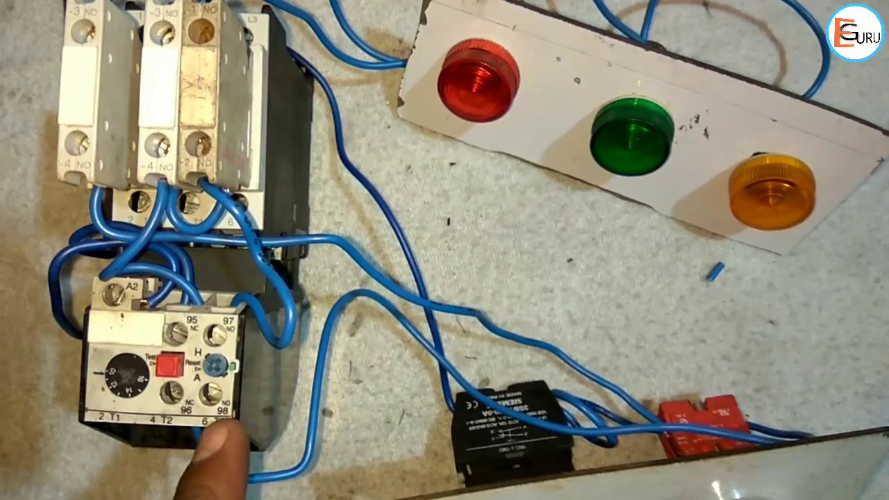 small resolution of starter on off indicator light wiring in hindi electric guru