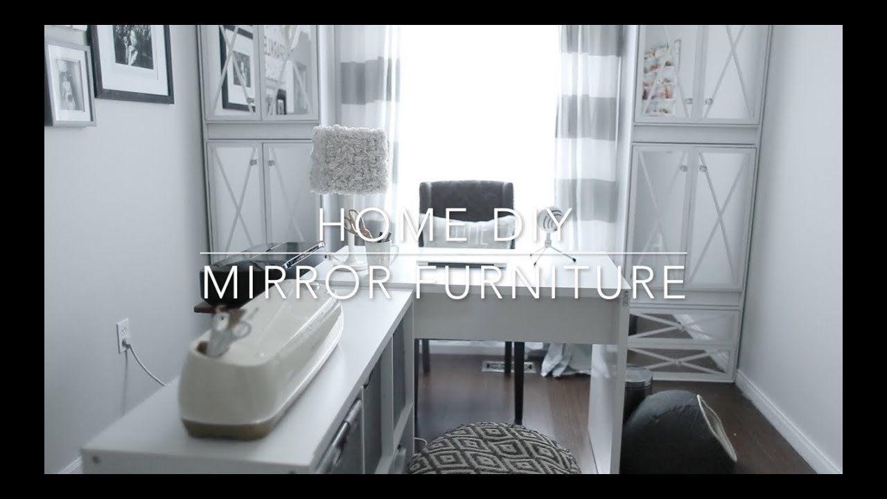 diy mirrored furniture mirror dresser home diy mirror furniture youtube