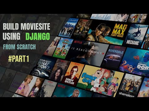 Django Movie Site Part 1 Design Templates   Web designing Using Bootstrap   All In One Code
