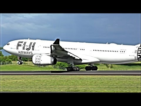 Incredible Plane Spotting At NADI Intl Airport, FIJI!
