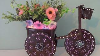 Porta bijuteria ou decoração com materiais reciclados