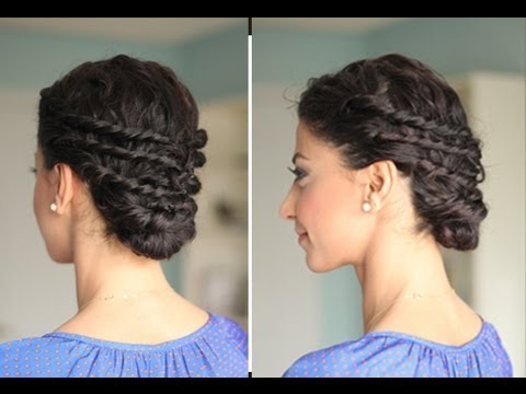 Easy Updo for Naturally Curly Hair