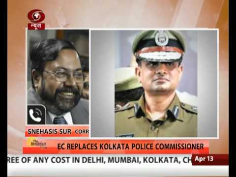 Election Commission orders removal of Kolkata Police Chief