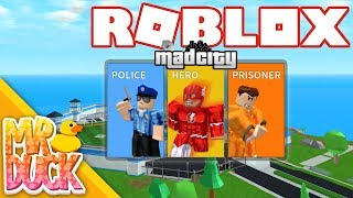 JAILBREAK'S NEW COMPETITOR WITH HEROES!? - Roblox Mad City