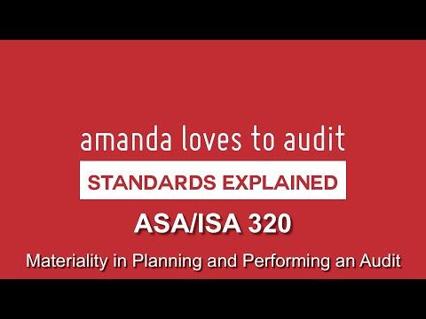 ISA/ASA320 - Auditors And MATERIALITY
