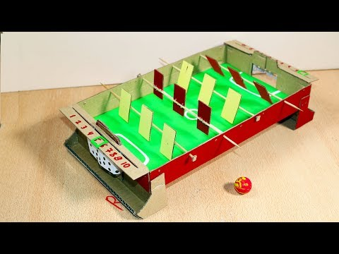 How To Make Table Soccer Football  Toy From Cardboard