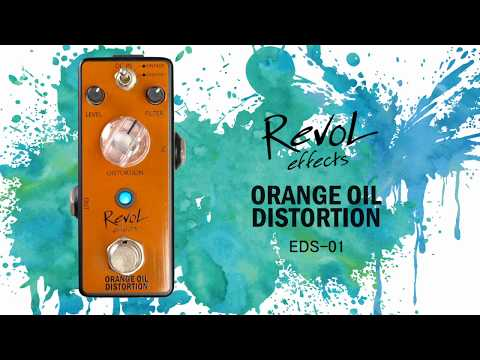 【RevoL effects】ORANGE OIL DISTORTION EDS-01 エフェクター