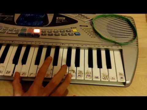 (Alvaro Soler )SOFIA suonata con la tastiera