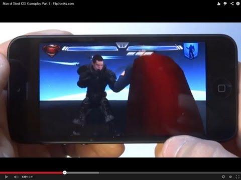 Man Of Steel IOS Gameplay Part 1 - Fliptroniks.com
