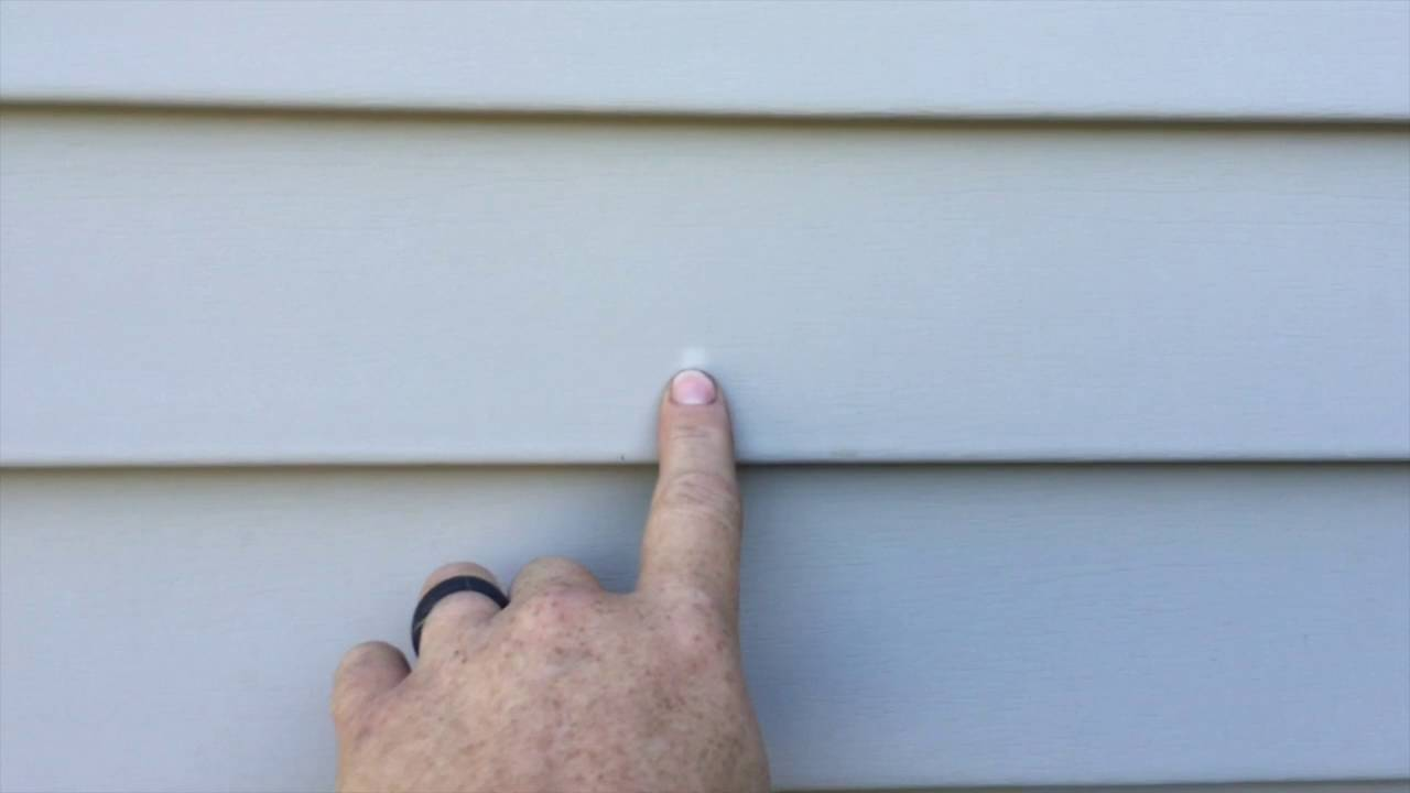 What are the spots or discolor on the Vinyl Siding? - YouTube