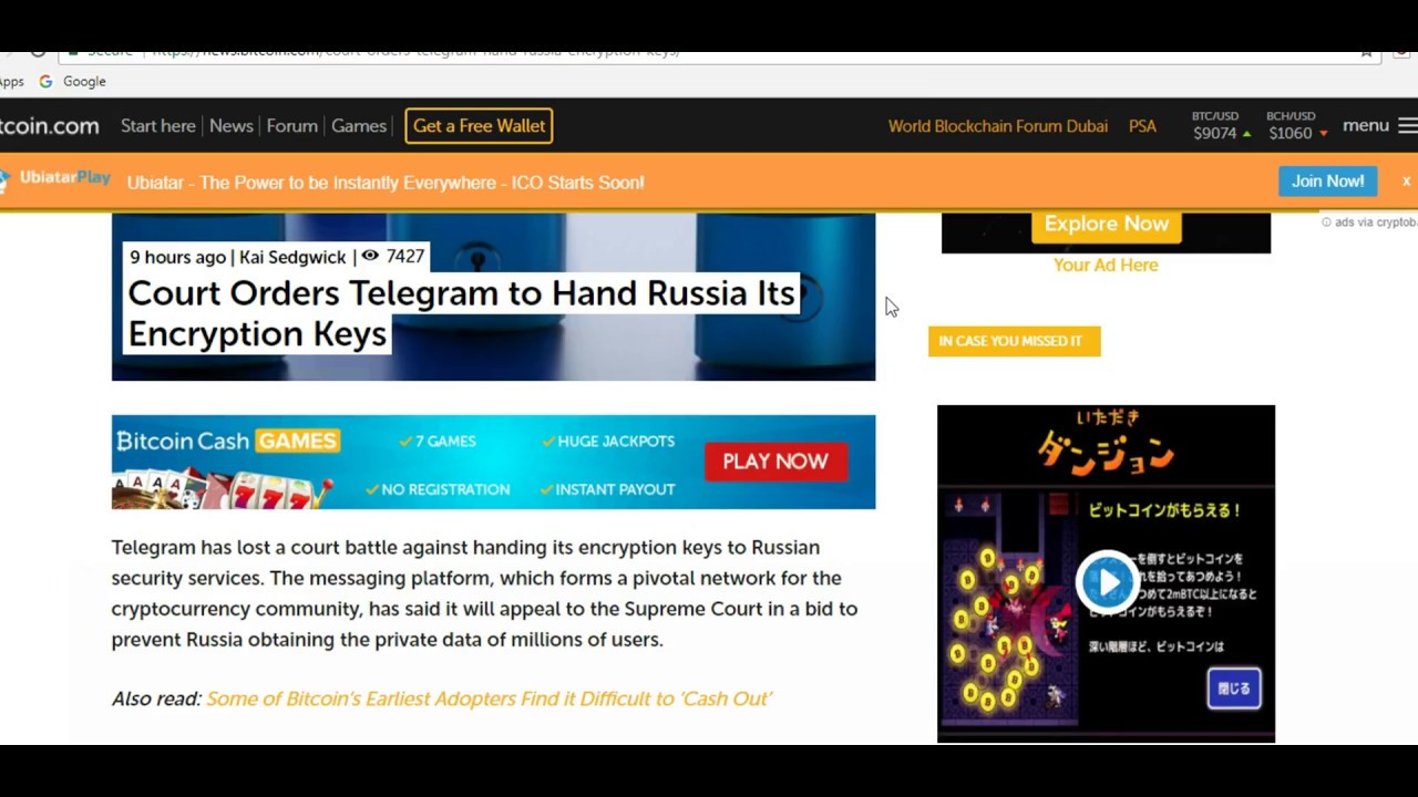 Latest Crypto News : Telegram to Hand Russia Its Encryption Keys 21 march 2018