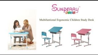 Multifunctional Ergonomic Children Study Desk (english)