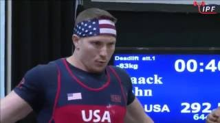 John Haack - 813kg 1st Place 83kg - IPF World Classic Powerlifting Championships 2016
