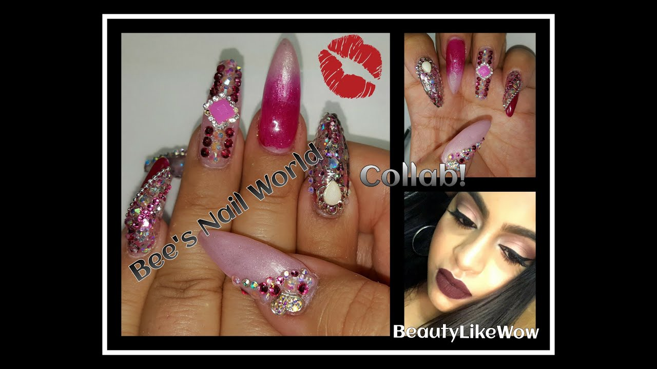 Valentines Day Nails Makeup Collab W Beautylikewow Long Almond