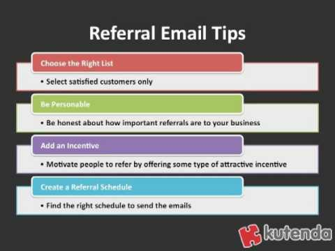 Email Marketing Tip: Send out Referral Email Campaigns - YouTube