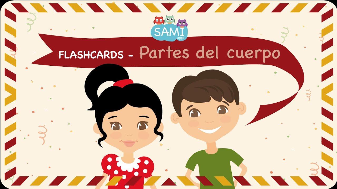 Flashcards partes del cuerpo en español de Samiapps - Flipped ...