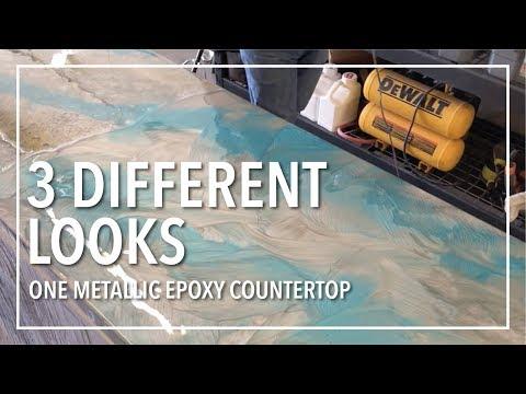 3 Different Looks | One Epoxy Countertop!