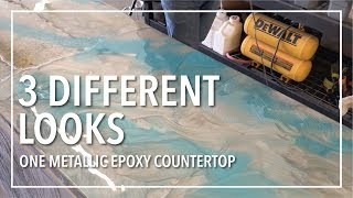 3 Different Looks | One Epoxy Countertop!