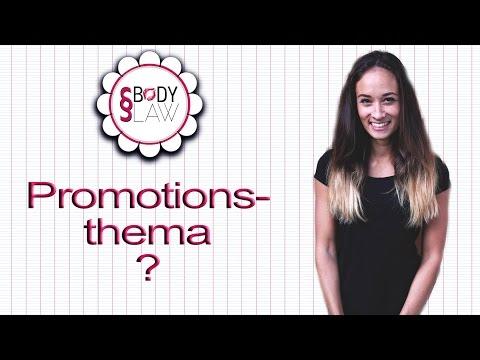 Doktorarbeit / Promotion - Thema finden - Jura / Rechtswissenschaften