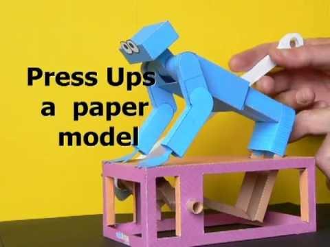 Papercraft Press ups, a paper model