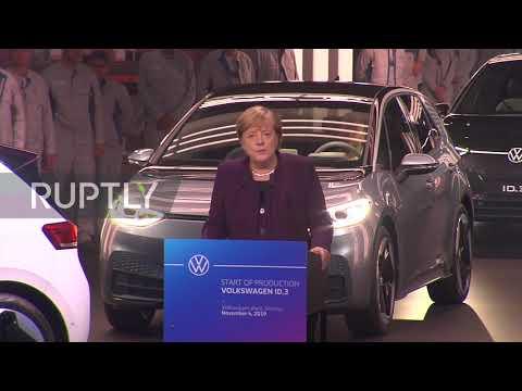 Germany: Merkel praises new VW electric car as environmental reform faces flak