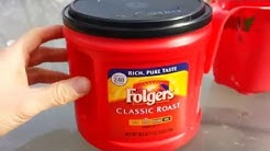 DIY Folgers Coffee Can Painting Hack