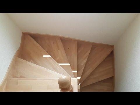 Лестница винтовая бук