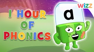Phonics - Learn to Read | One Hour Spelling Lesson | Alphablocks | Wizz | Cartoons for Kids