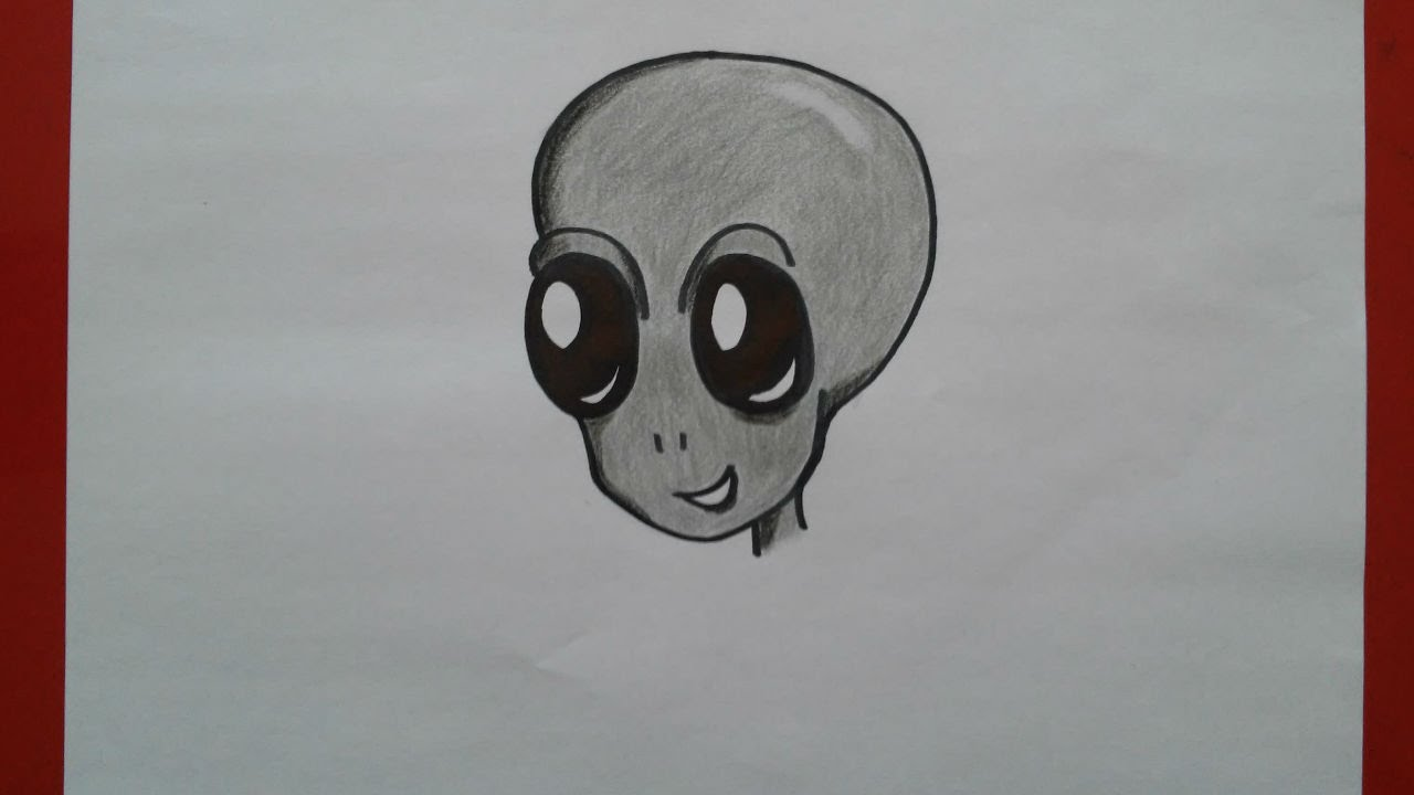 Como Dibujar Un Alien Paso A Paso How To Draw An Alien