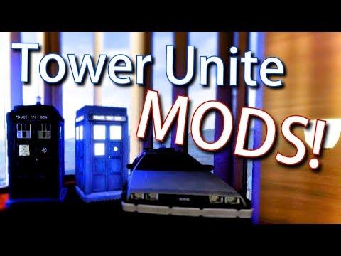 Tower Unite, Tardis And Delorean Mod