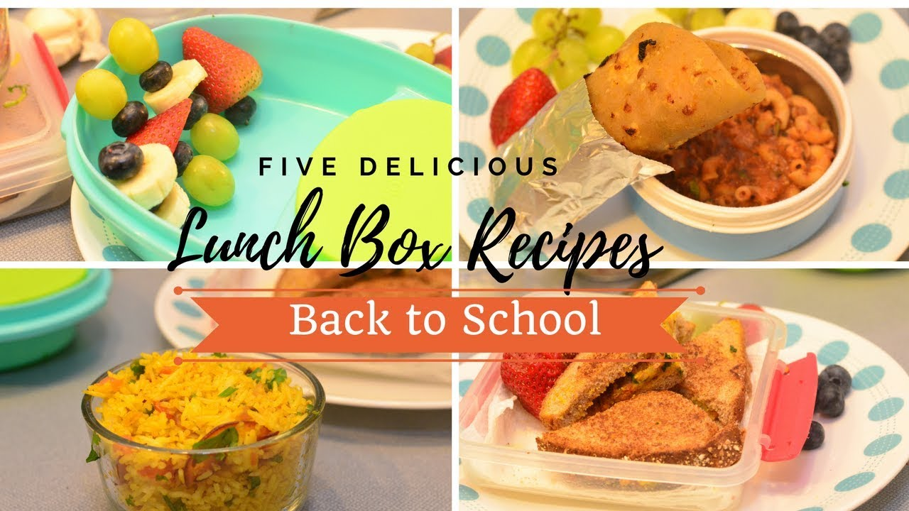 5 Healthy Delicious Back To School Vegetarian Lunch Box