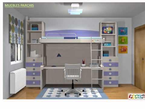 Ideas como amueblar el dormitorio juvenil de mis hijos for Programa para amueblar habitaciones