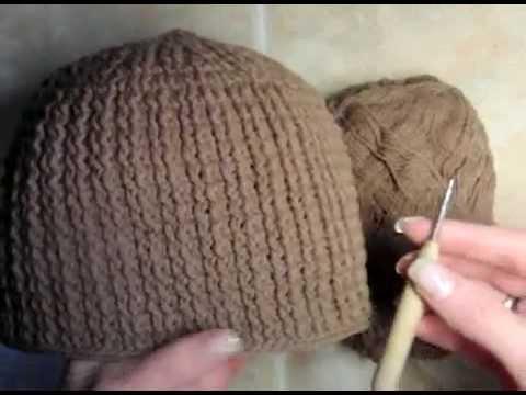 0 Как связать мужскую шапку,