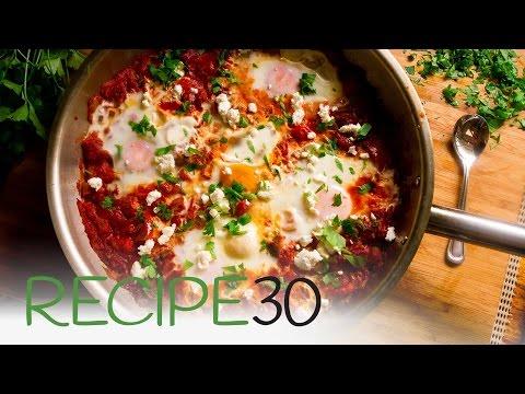 Shakshouka, eggs in spicy tomato sauce