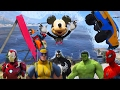 SUPERHEROES Water Jump Challenge On Cars With Spiderman, Batman And More. Funny Videos For Kids.
