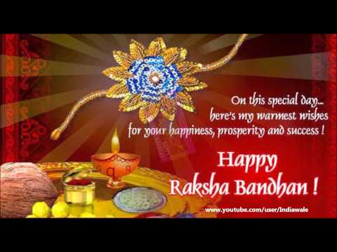 Happy Raksha Bandhan Greeting Card For Brother Sister