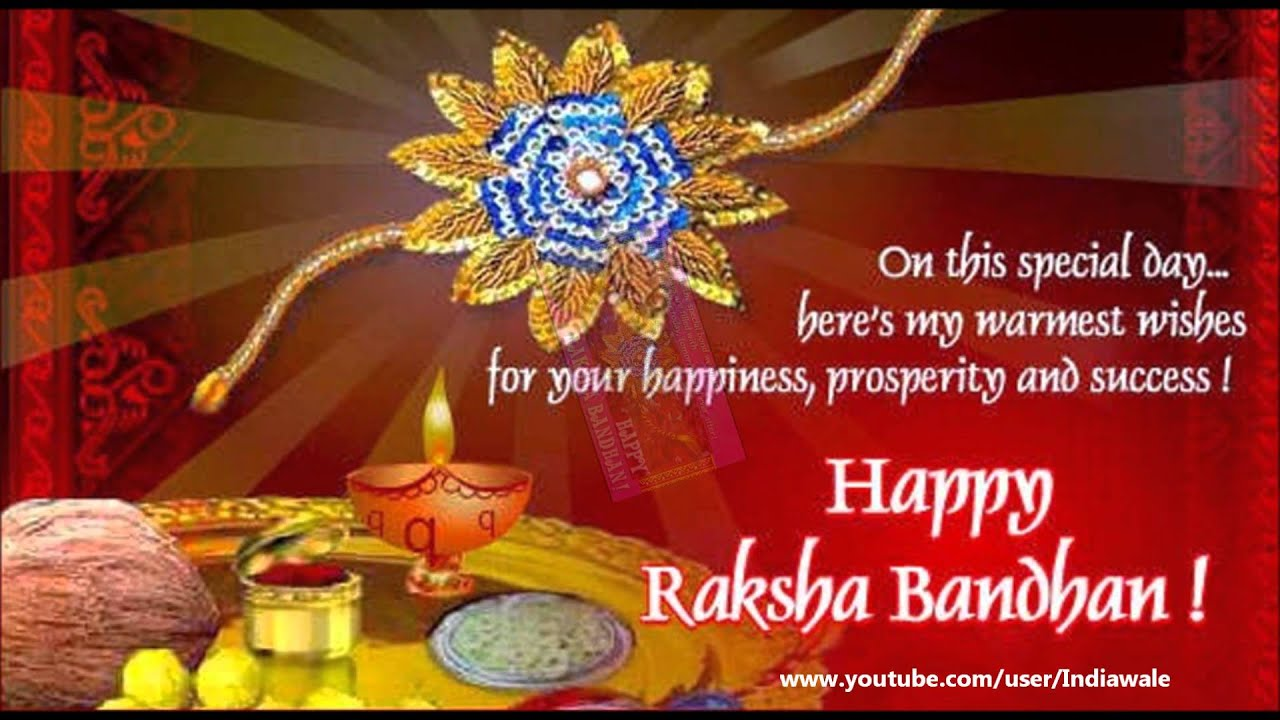 Happy raksha bandhan greeting card for brothersister youtube happy raksha bandhan greeting card for brothersister m4hsunfo