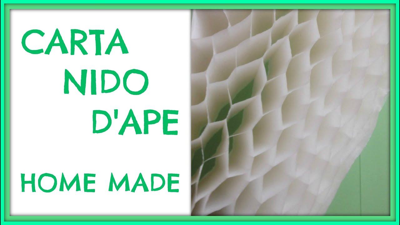 Come fare la Carta Nido  How to make Honeycomb Paper