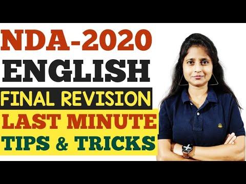 NDA 2020 English   Final Revision   Last Minute Tips And Tricks I NDA ENGLISH I NDA Maths Jugad Se