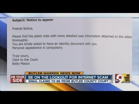 New email scam fronts as legal notice