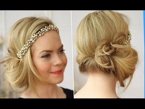 twenties style hair flapper hairstyle headband 2508 | hqdefault