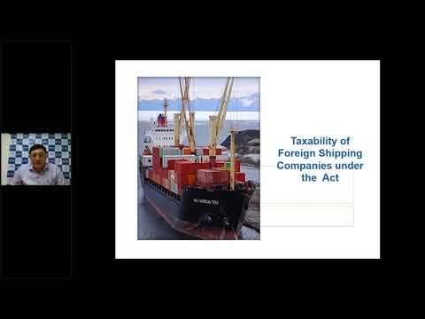 Webinar on Taxation of Foreign Shipping Company - CA Natwar