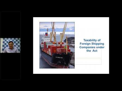 Webinar on Taxation of Foreign Shipping Company - CA Natwar Thakrar