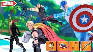 *NEW* FORTNITE AVENGERS GAMEPLAY! THANOS, HAWKEYE, THOR, IRON MAN, & CAPTAIN AMERICA!