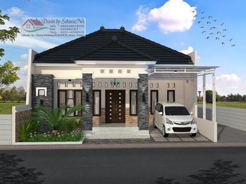 Modern House (10x11,5) 3 K. Tidur. Desain Rumah Minimalis Lantai 1