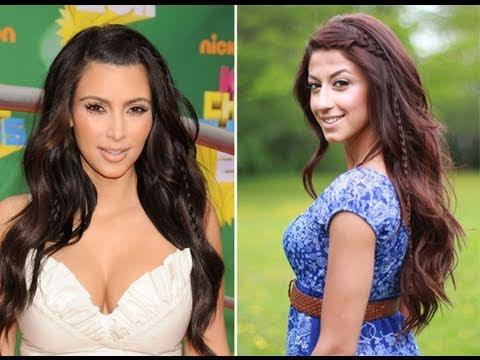 Kim Kardashian Inspired Bohemian Hairstyle