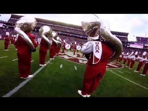 University of Alabama Million Dollar Band Pregame Show GoPro (60fps)